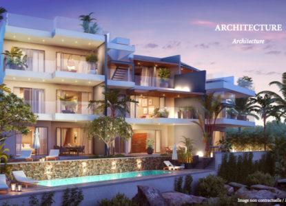 Résidence avec appartements moderne, 3 chambres, Flic en Flac, Maurice
