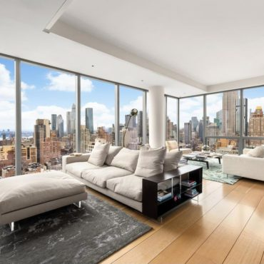 Immobilier rare à New York, condo luxueux 4 chambres, Manhattan, USA
