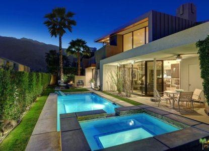 Duplex avec piscine privée à Palm Springs, Californie, USA