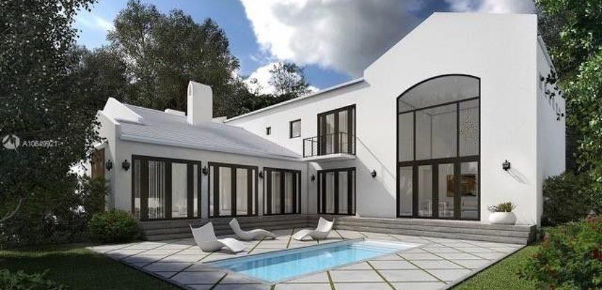 Belle et grande résidence à deux étages, 8 chambres, Miami Beach, Floride, USA